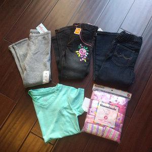 Girls NWT 4T Lot of Clothes Shirt Pants Panties